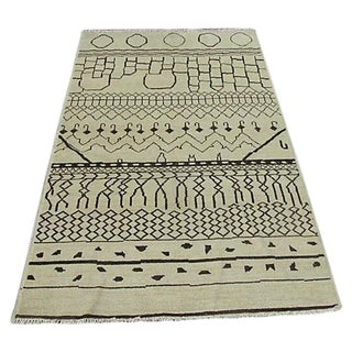 Moroccan Sand Dune Rug from Pakistan - 4′10″ × 8′2