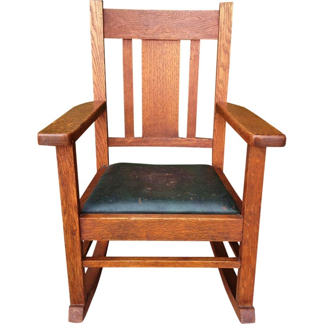 Antique Wakefield Co Mission Child's Rocking Chair - Image 1 of 7