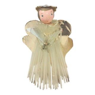 Vintage Cellophane and Aluminum Angel Decoration