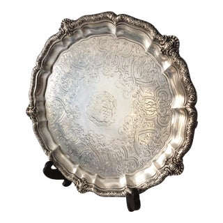 Garrards Ornate Sterling Silver Plate