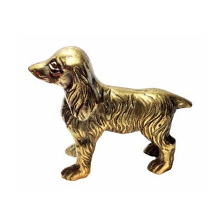 Vintage Brass Cocker Spaniel Dog