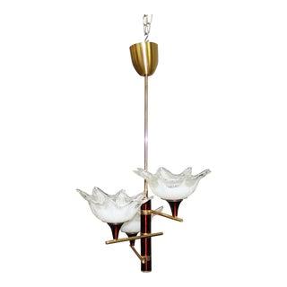 Italian Mid Century Modern Glass Chandelier Murano 1960s.