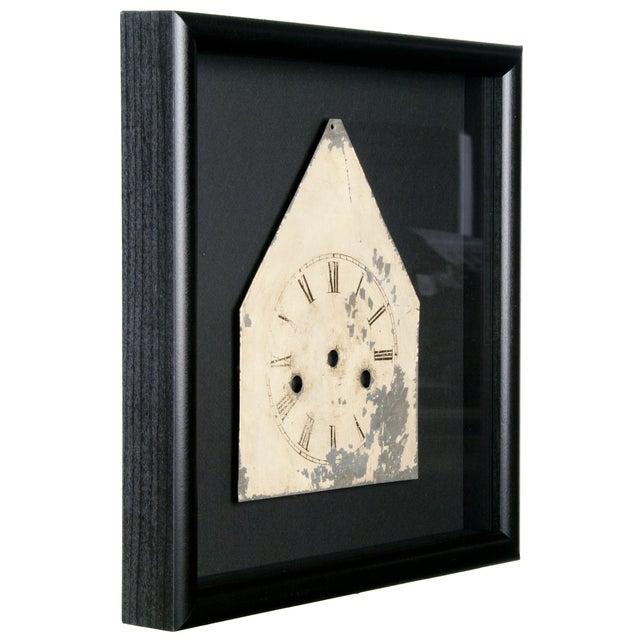Image of Framed Antique Galvanized Metal Clock Face