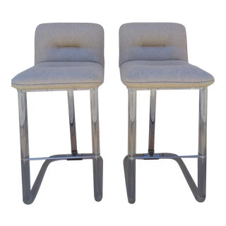 Pair of Leon Frost Lucite Swivel Barstools C. 1970s