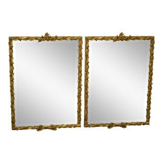 Carvers Guild Pair of Gilt Frame Beveled Wall Mirrors