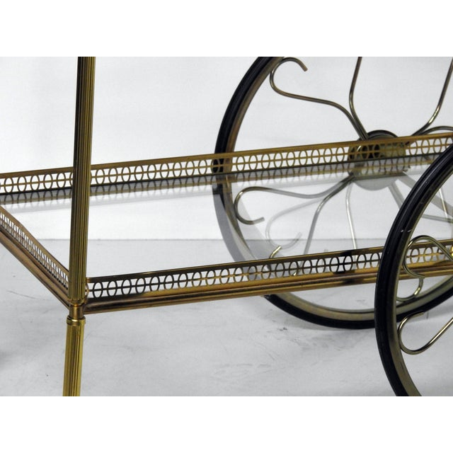 French Modern Rolling Bar Cart - Image 8 of 9