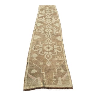"Vintage Turkish Oushak Runner - 2'6"" x 11'7"""