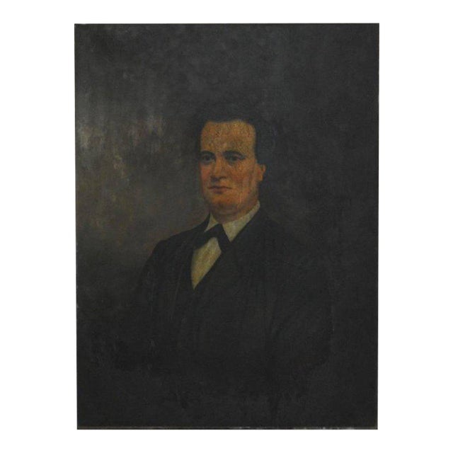 19th Century English Portrait of a Gentleman Oil on Canvas - Image 1 of 10
