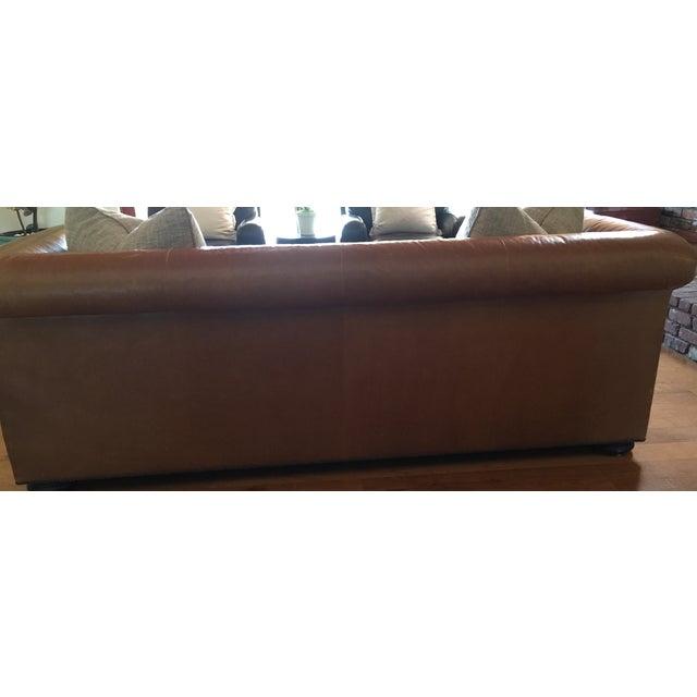 Ralph Lauren Leather & Linen Sofa - Image 5 of 5