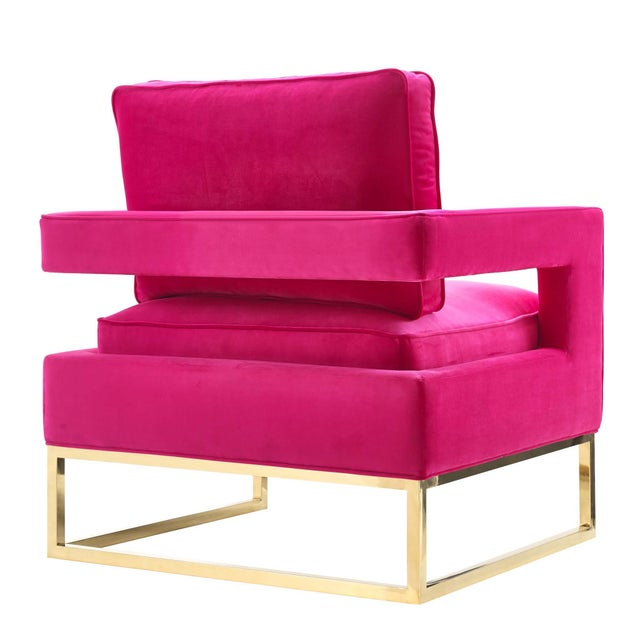 New Hot Pink Velvet Chair Chairish