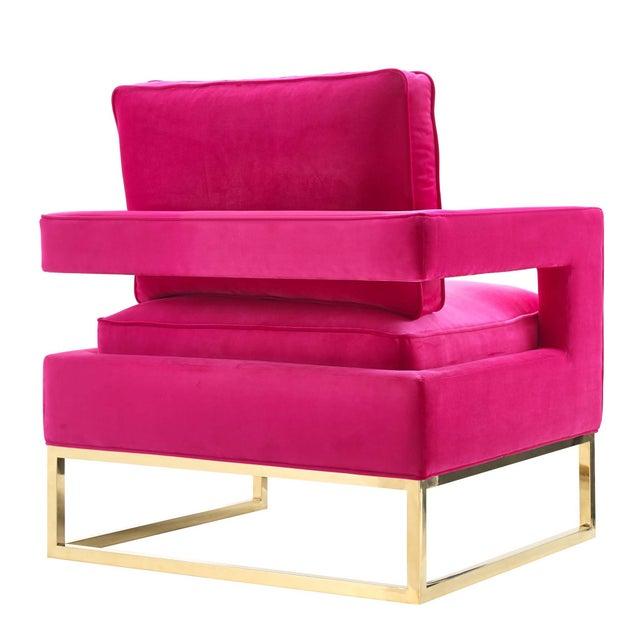 New Hot Pink Velvet Chair Chairish