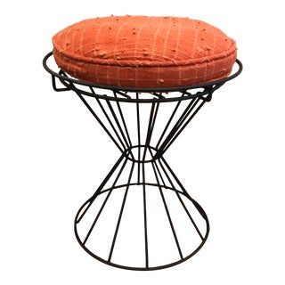 California Modernist Iron Stool