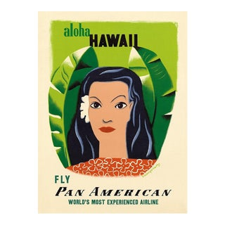 Framed Hawaii Travel Poster