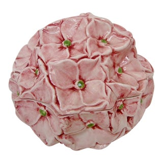 Porcelain Hydrangea Lidded Bowl