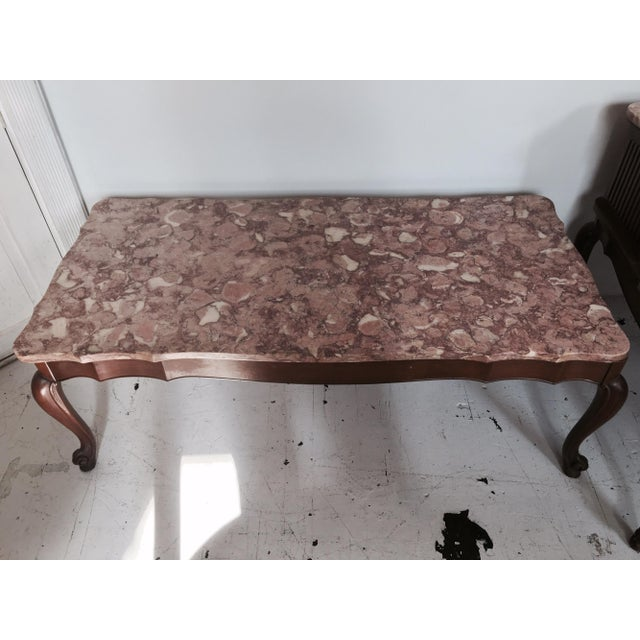 Image of Rose Pink Marble Coffee Table & End Table