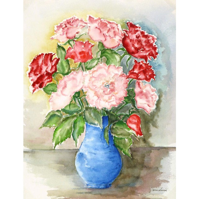 Image of Vintage Watercolor - Blooms of Ardor