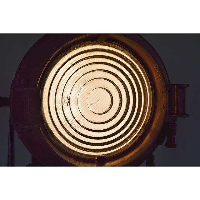 Vintage Mole Richardson Professional Studio Stage Spotlight Industrial Floor Lamp with Boom Attachment - Image 6 of 11