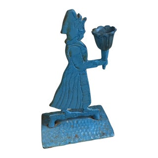 Antique Early America Women Figural Door Stop
