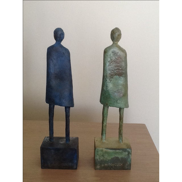 """""""Chest of Drawers"""" Bronze Men by H. Hitchcock - Image 4 of 5"""