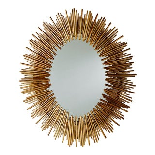 Arteriors Prescott Antiqued Gold Oval Iron Mirror