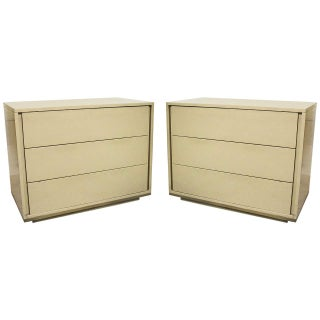 John Stuart Mid-Century Cream Chests - A Pair