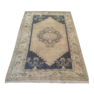 Contemporary Traditional Hand-Knotted Rug - 3′4″ × 4′10″
