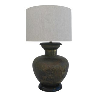 Hammered Pot Table Lamp