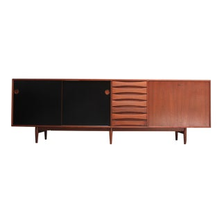 Arne Vodder Teak Credenza with Reversible Doors