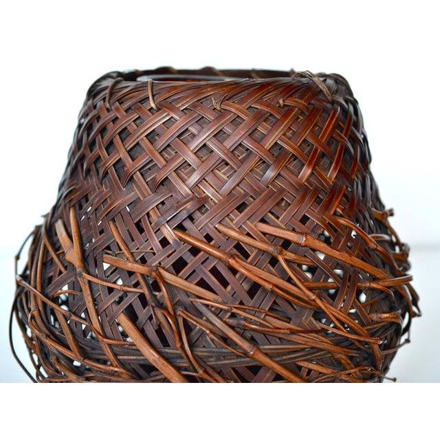 Antique Japanese Woven Ikebana Basket - Image 3 of 5