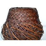 Image of Antique Japanese Woven Ikebana Basket