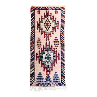 """Vintage Moroccan Wool Runner - 3'1"""" X 7'2"""""""