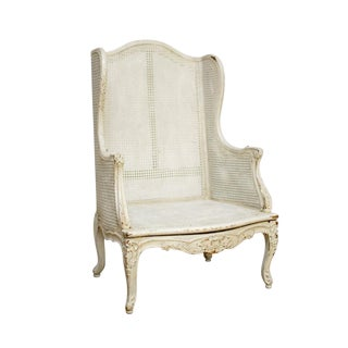 Louis XV Wingback Cane Chair