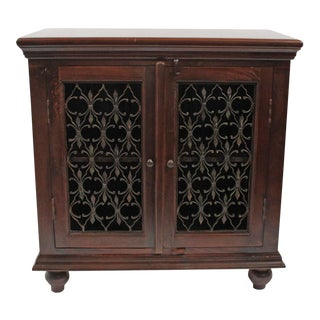 Iron Inlay Bedside Cabinet