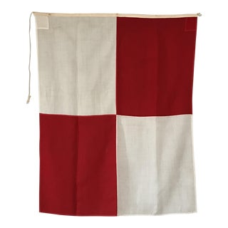 "Vintage Nautical Flag Signal ""U"""