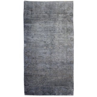 Turkish Overdyed Oushak Rug - 4′ × 7′6″