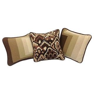 Mod Needlepoint Pillows - Set of 3