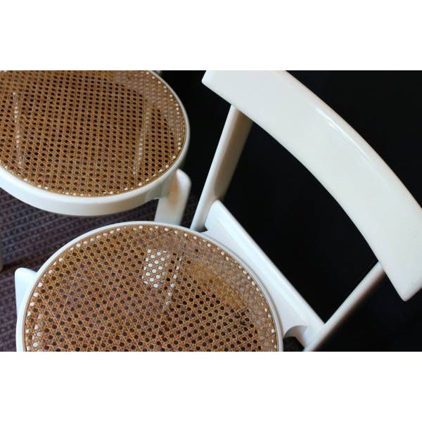 Midcentury Italian White Lacquered Chairs - A Pair - Image 7 of 10