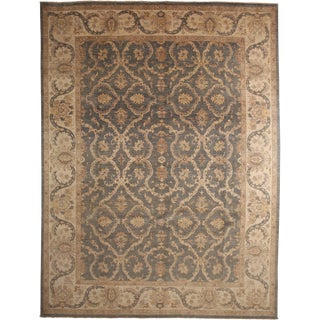 """Oushak Hand Knotted Area Rug - 9'3"""" X 12'3"""""""