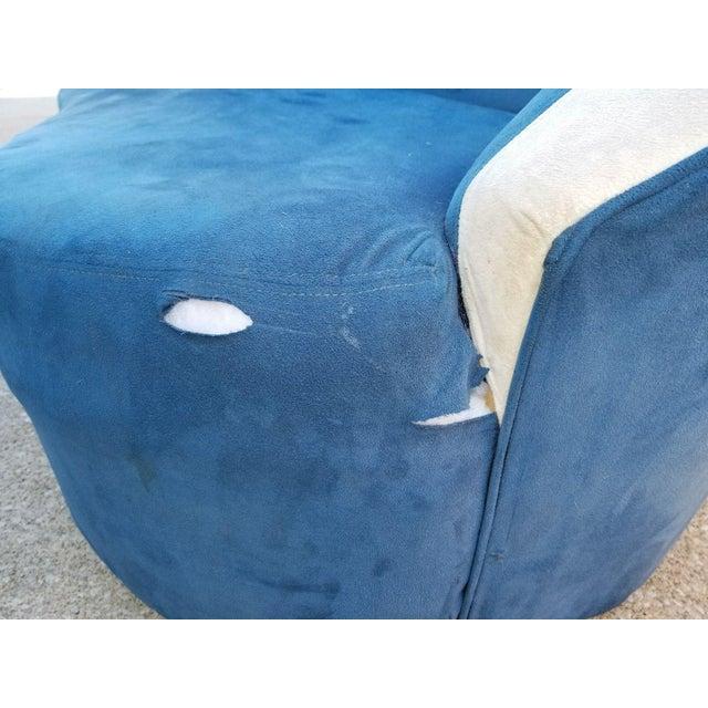 Vladimir Kagan for Directional Nautilus Sofa in Blue Velvet - Image 4 of 11