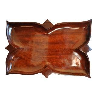 1950's Hand Carved Haitian Red Mahogany Tray