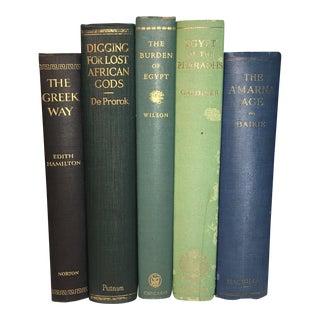 Vintage Books About Ancient Civilizations - Set of 5