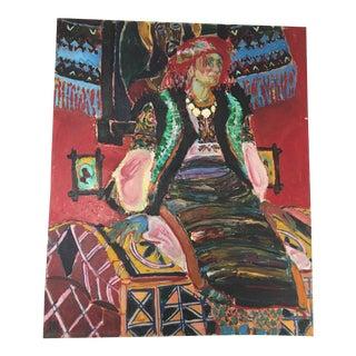 "Igor Melnychuk ""Waiting"" Figurative Oil Painting"