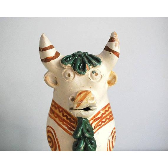 Vintage Peruvian Pottery Bull, Terra Cotta Torito De Pucara - Image 5 of 8