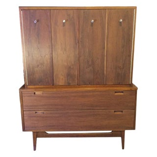 American of Martinsvlle Vintage Walnut Highboy