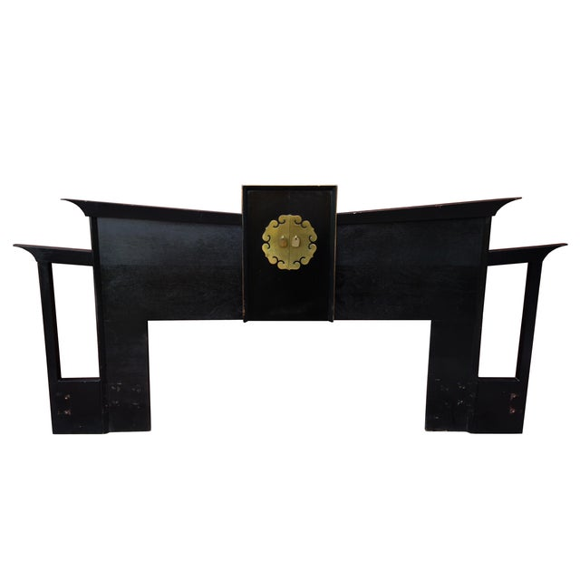 Image of 1950s Asian Inspired King Size Headboard