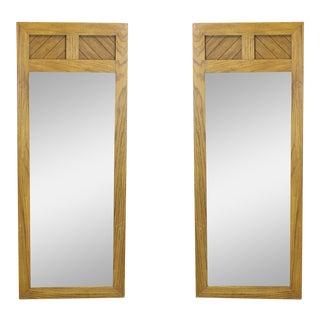 Mid-Century Walnut Mirrors, A Pair