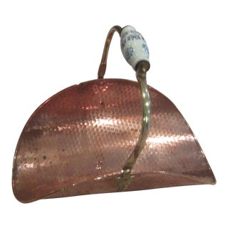Holland Delft Copper & Brass Firewood Holder
