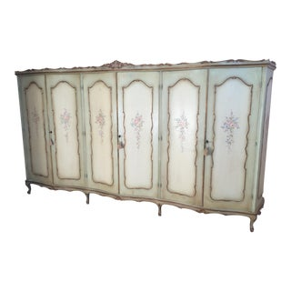 Italian Painted Triple Armoire, Circa 1900's