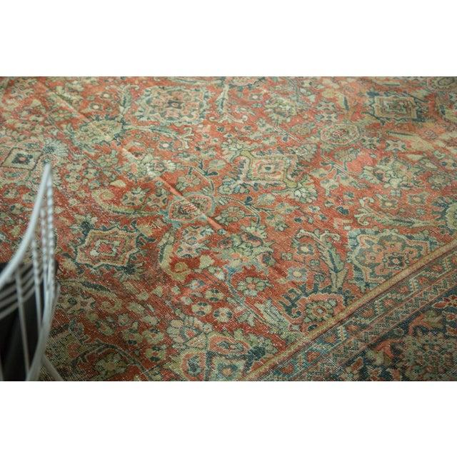 "Vintage Distressed Mahal Carpet - 10'8"" x 13'8"" - Image 7 of 10"