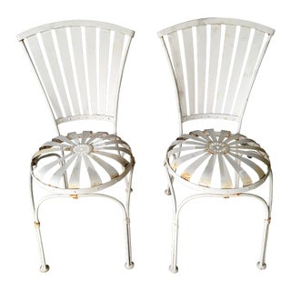 Vintage French Spring Steel Chairs - A Pair